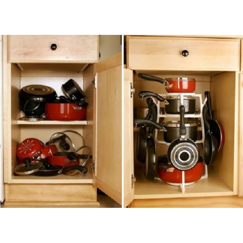 bima portable pan tree rak panci dapur pan storage